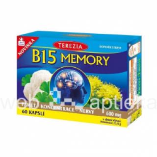 Uztura bagātinātājs B15 MEMORY  60 kapsulas 23,8g, GeoMed