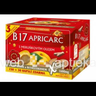 Uztura bagātinātājs. B17 APRICARC 180 kapsulas, 70g, GeoMed