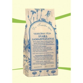 Veselības tēja SVARA SAMAZINĀŠANAI 60g, Dr.Tereško tējas