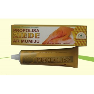 Propolisa ziede ar mumiju ( komplektā ar papīrveida pārsienamo materiālu) 40 g, Medicamina