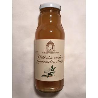 Plūškoka ziedu-piparmētru sīrups 300ml, Blankenfeldes muižas ražotne