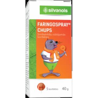 Faringospray CHUPS 5 gab., 40 g, SILVANOLS