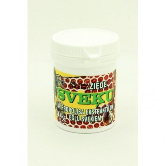 """Bišu vaska ziede """"Sveķu"""" ar propolisa ekstraktu un egļu sveķiem 60 g"""