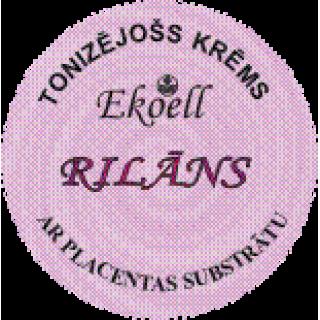 """Tonizējošs krēms """"RILĀNS"""" ar placentas substrātu 40 g, Ekoell"""