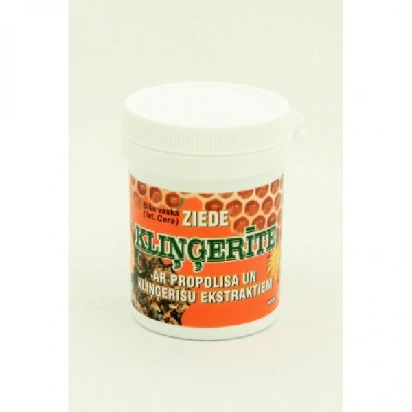 """Bišu vaska ziede """"Kliņģerīte"""" ar propolisa un kliņģerīšu ekstraktiem 30 g"""